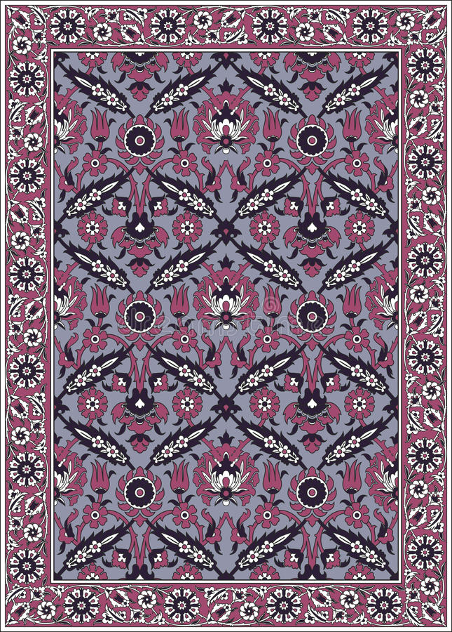 Persian detailed carpet royalty free illustration