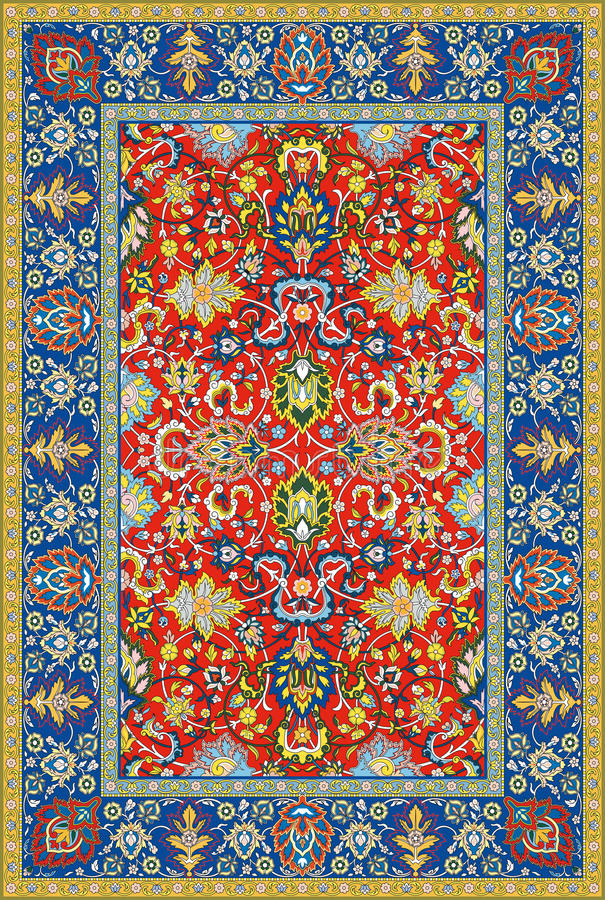 Free Persian Detailed Vector Carpet Royalty Free Stock Images - 18859589