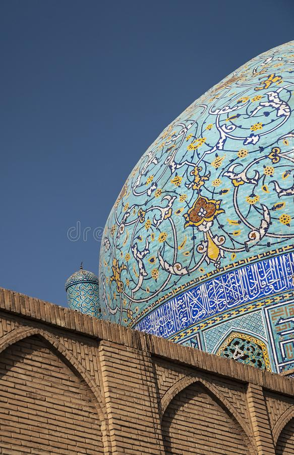 Persian islamic architecture detail of imam mosque in esfahan is stock images
