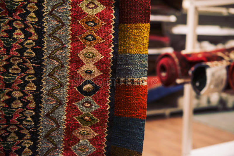 Close Up Of Persian Carpets Stock Image Image Of Orange