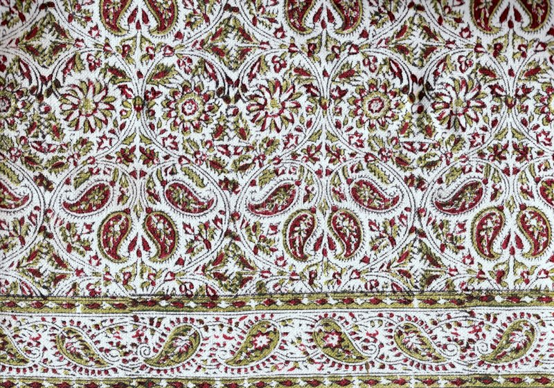 Persian Tablecloth. Royalty Free Stock Photo