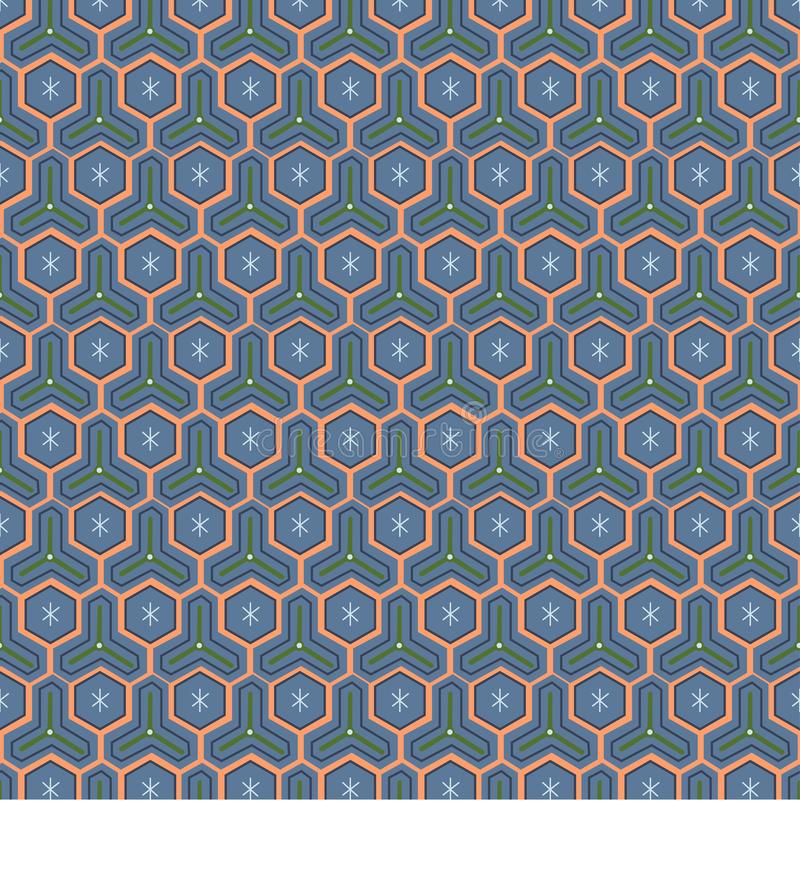 Persian traditional ornament. Seamless pattern with geometric ornament. Ancient traditions. Vector royalty free illustration