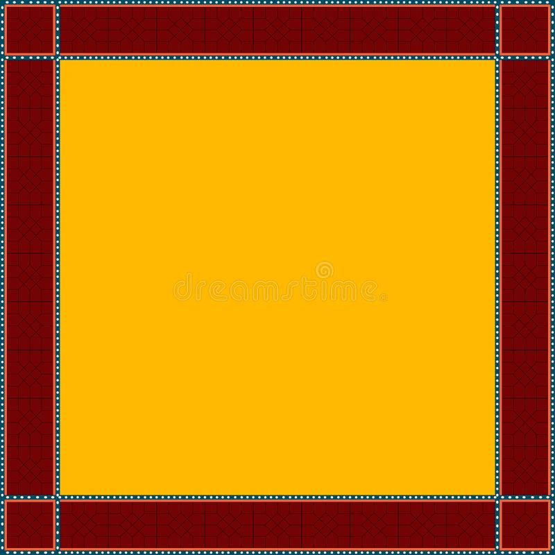 Persian traditional ornament. Square frame with geometric ornament. Ancient traditions. Vector royalty free illustration