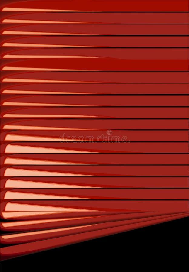 Persianas rojas. ilustración del vector