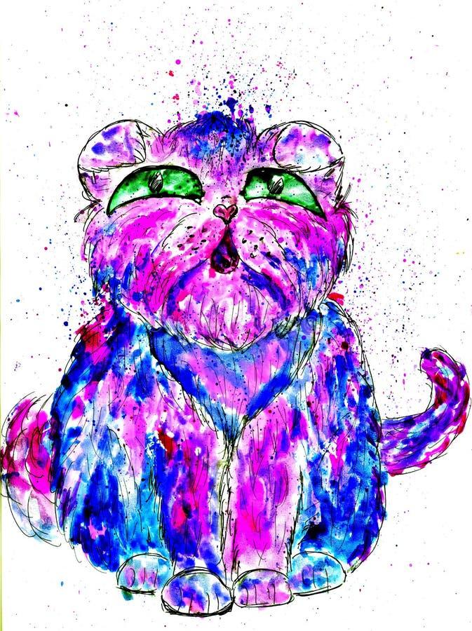 Persiano Cat Sketch royalty illustrazione gratis