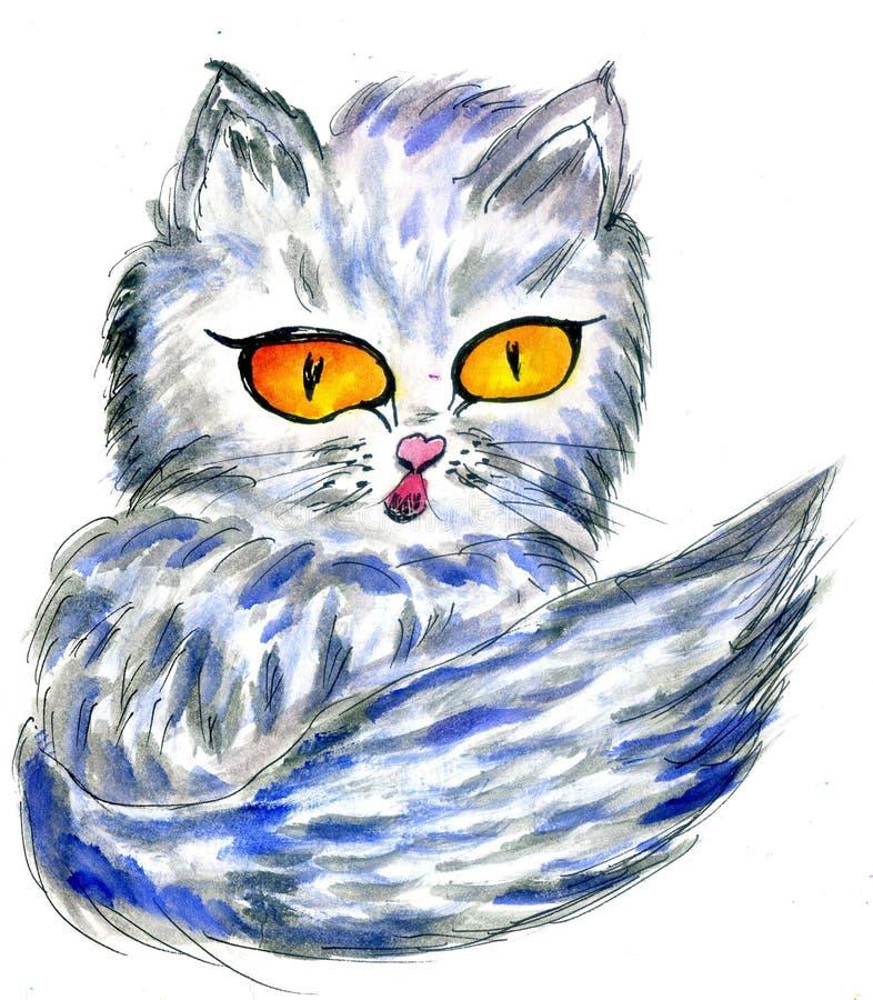 Persiano Cat Sketch illustrazione di stock