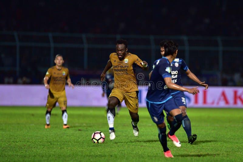 Persib Bandung que juega Arema FC imágenes de archivo libres de regalías