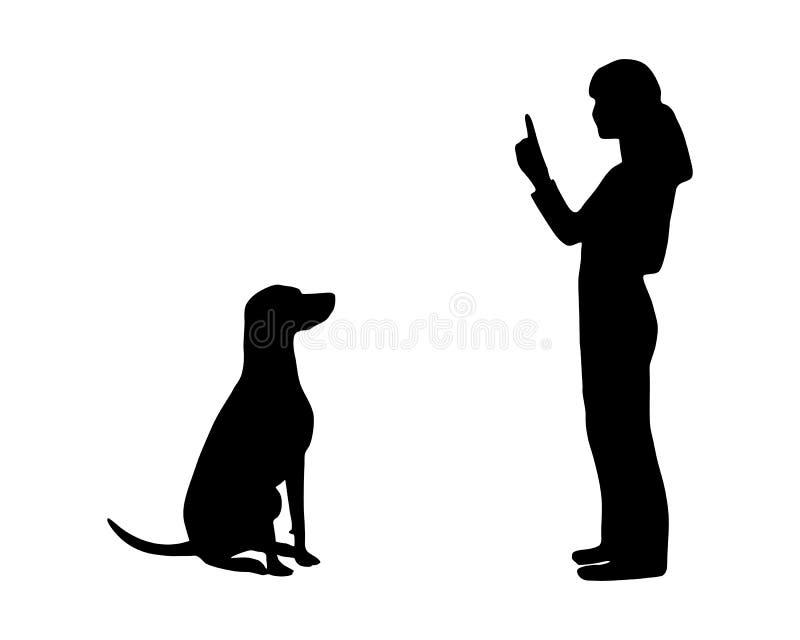 Persiga el entrenamiento (la obediencia) stock de ilustración