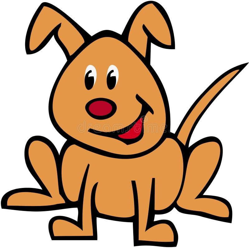Reque nombrado perro ilustración del vector