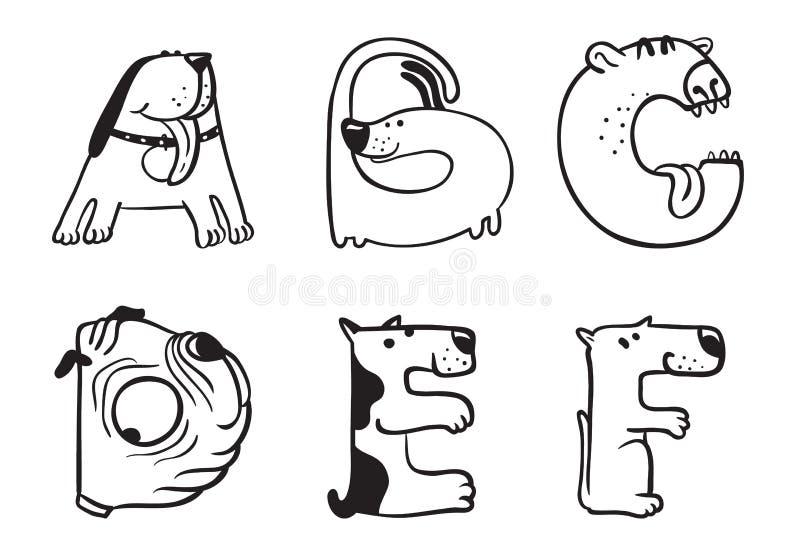 Persigue alfabeto libre illustration