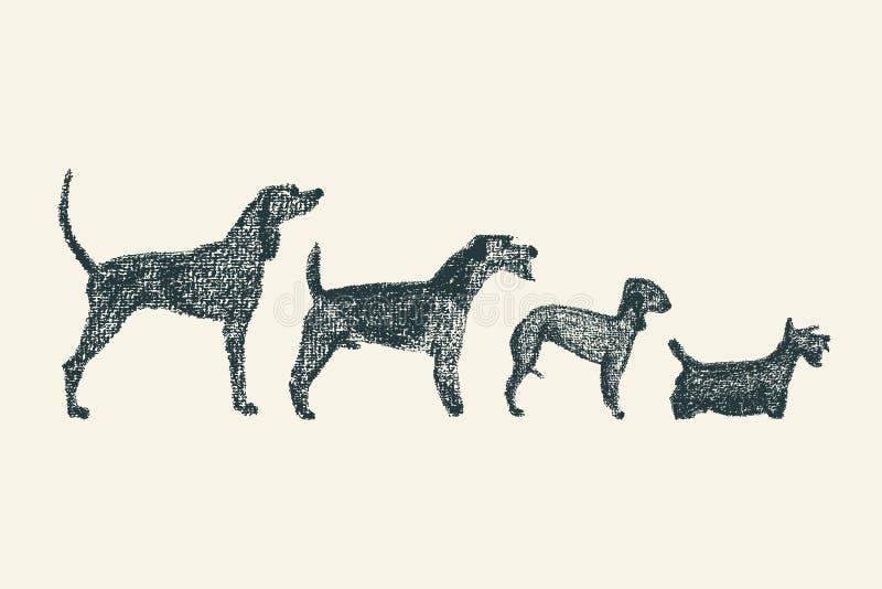 Persigue la ilustración ilustración del vector