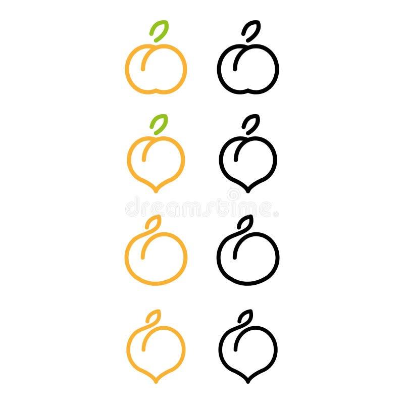 persika royaltyfri illustrationer