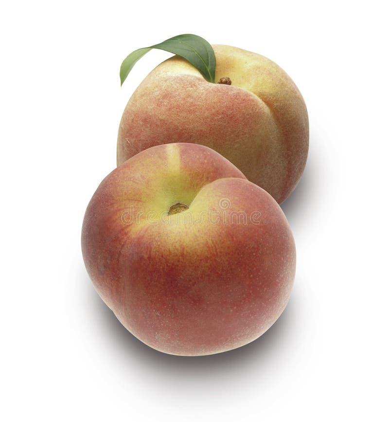 persikor två arkivbilder
