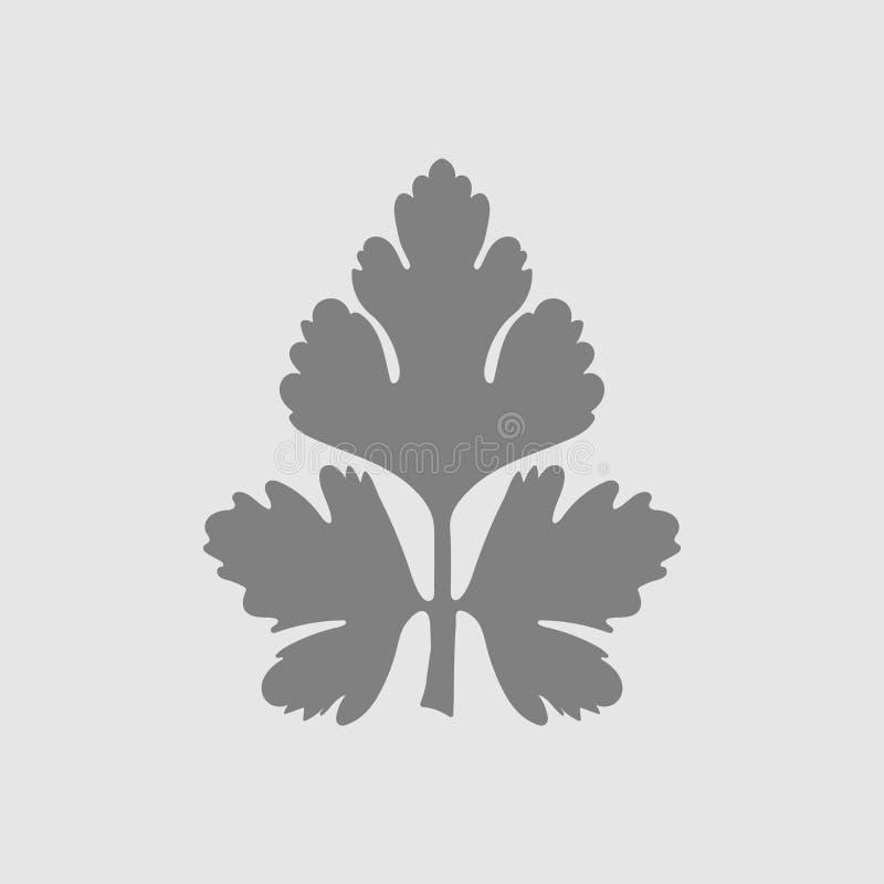 persiljasymbol vektor illustrationer