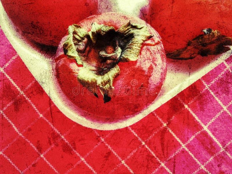 Persimmon fresco ou kaki diospyros ebony frutos vermelhos com textura, faixa de frutos persimmon foto de stock