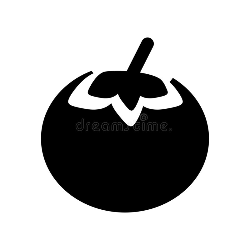 Persimmon icon. Trendy Persimmon logo concept on white background from Fruits and vegetables collection vector illustration