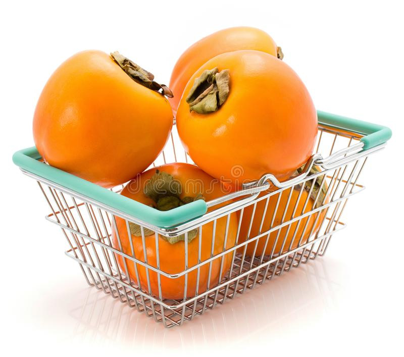 Kaki fruit Persimmon isolated stock photos