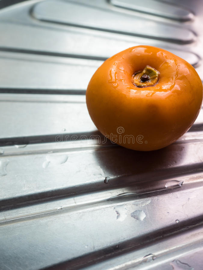 Download Persimmon stock image. Image of fruit, steel, sink, stainless - 83707401