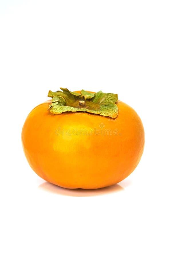Persimmon owoc odizolowywaj?ca na bielu obrazy royalty free