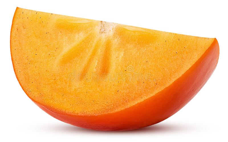 Persimmon owocowy plasterek zdjęcie royalty free