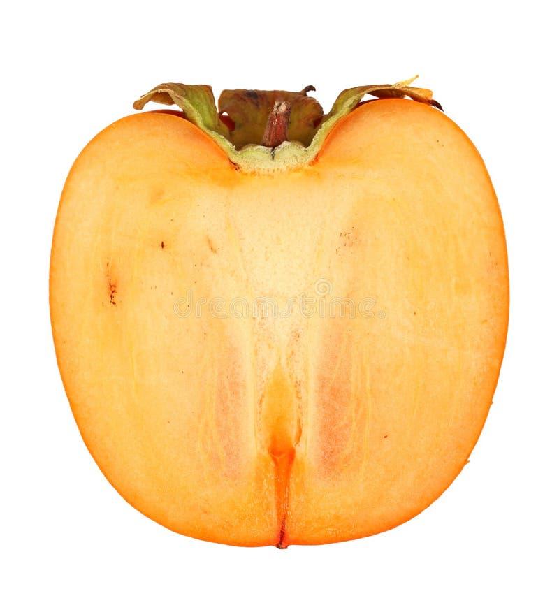 Persimonfrukt på vit bakgrund!! arkivbild