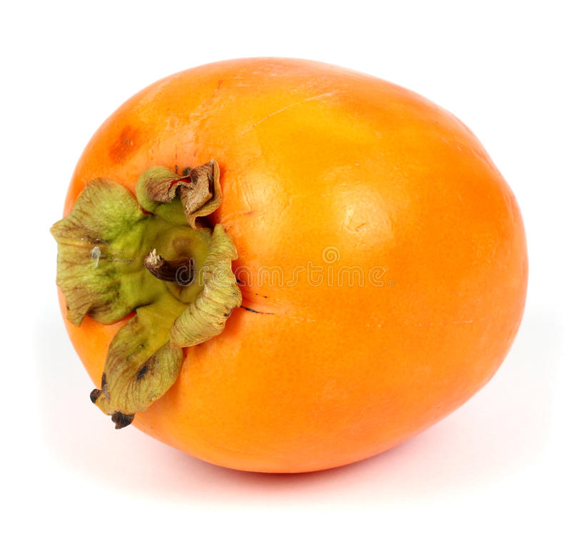 Persimonfrukt på vit bakgrund royaltyfria foton