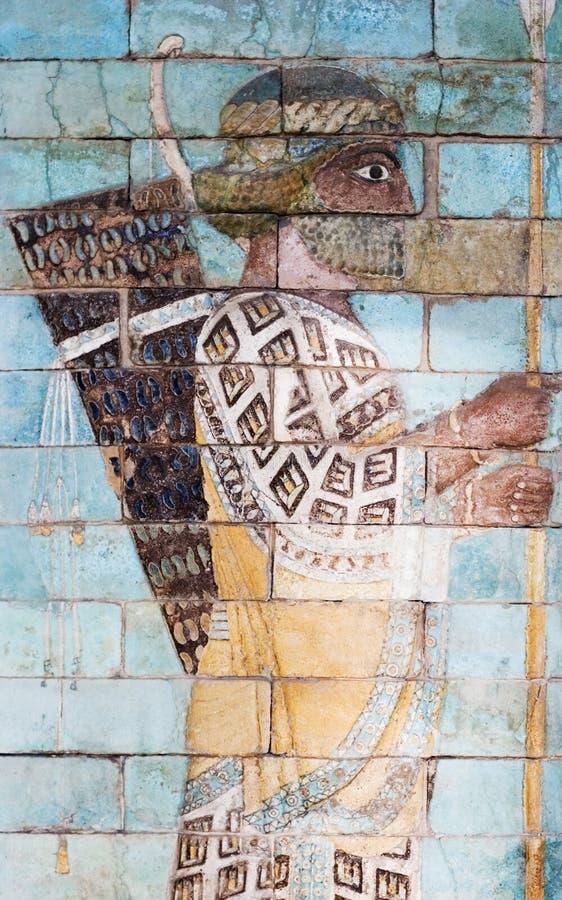 Persischer Bogenschütze, Antiquitäten lizenzfreie stockbilder