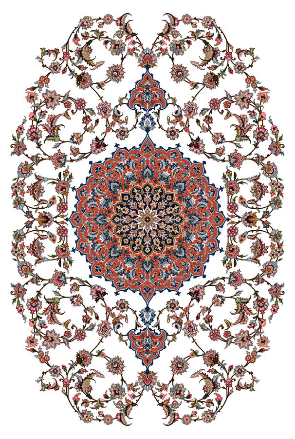 Persischer Teppich-Design lizenzfreie abbildung