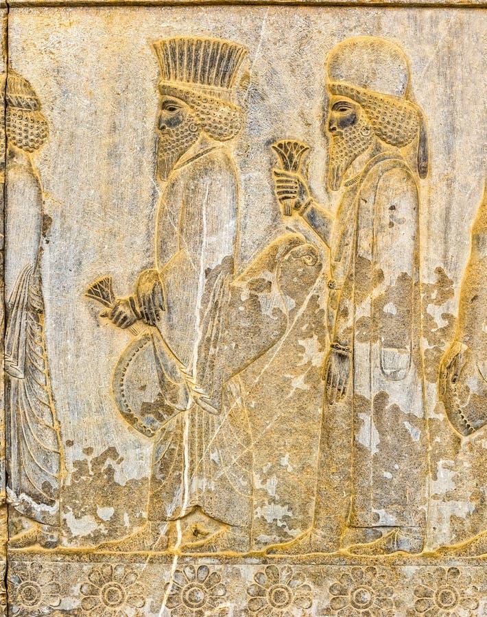 Persisk adelsmanlättnadsdetalj Persepolis royaltyfria foton