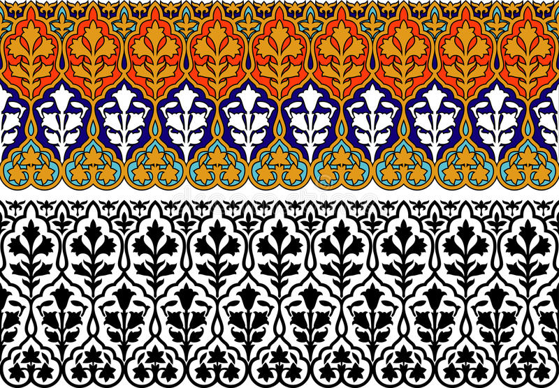 Persisk bakgrund stock illustrationer