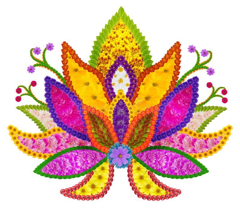 Persisk filtbeståndsdel - guld- sakrala Lotus royaltyfri bild
