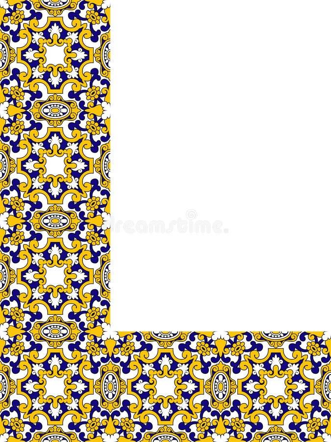 Persisk hörnprydnad royaltyfri illustrationer