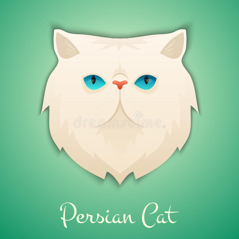persisk katt stock illustrationer