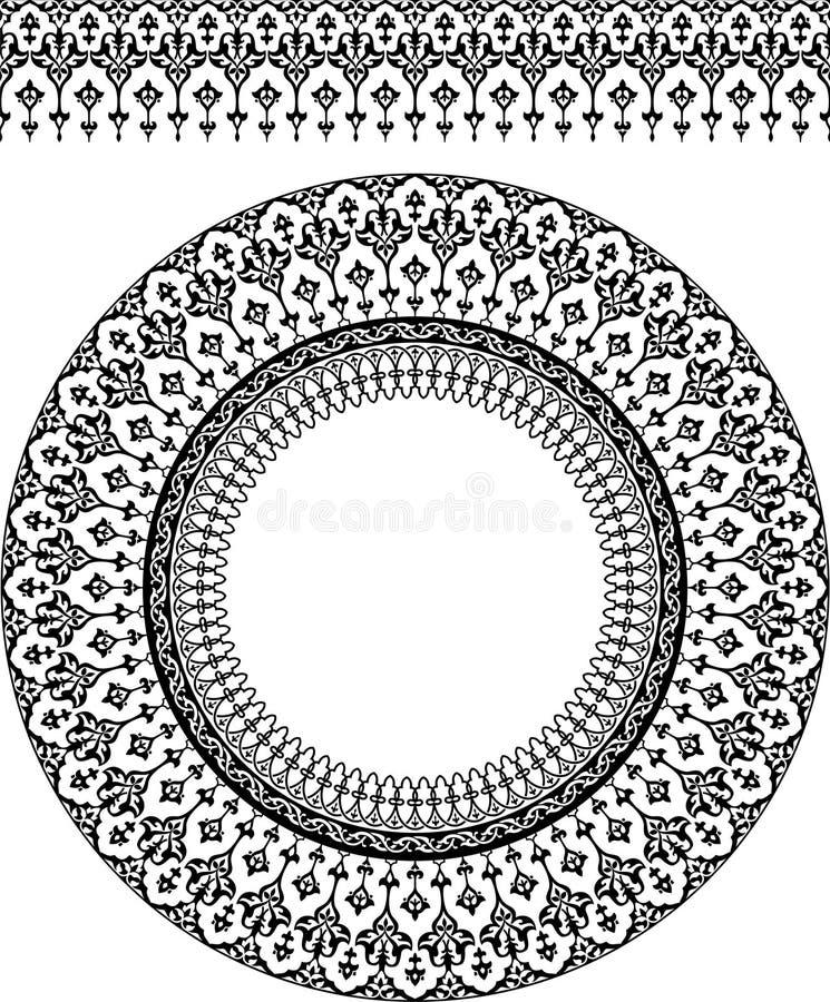 Persisk prydnad royaltyfri illustrationer