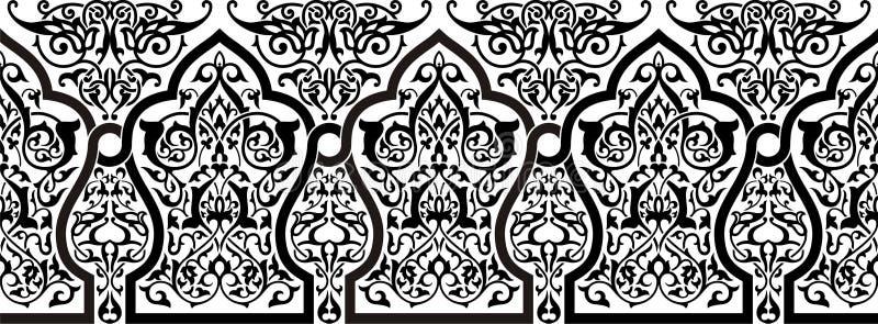 Persisk prydnad vektor illustrationer