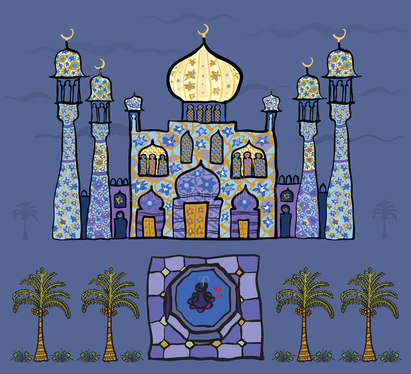 Persisk saga royaltyfri illustrationer