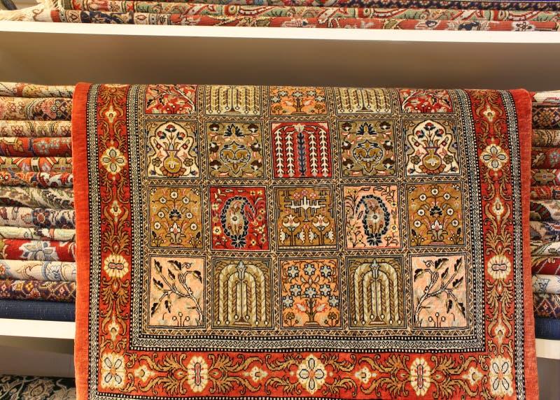 Perski dywan w centrum handlowym obraz stock