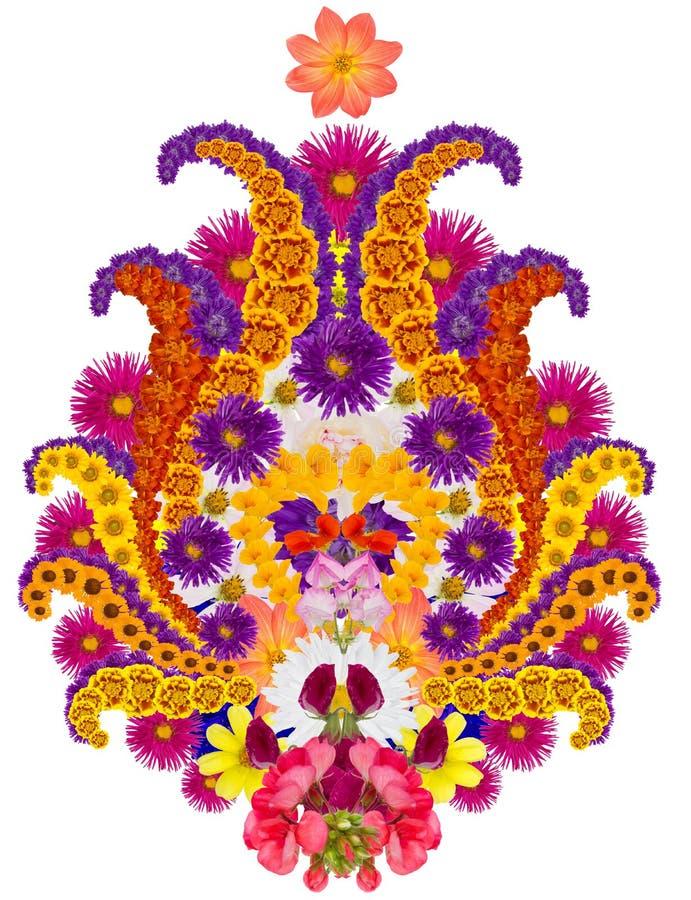 Perski dywanika element - kwiat granatowiec obraz stock