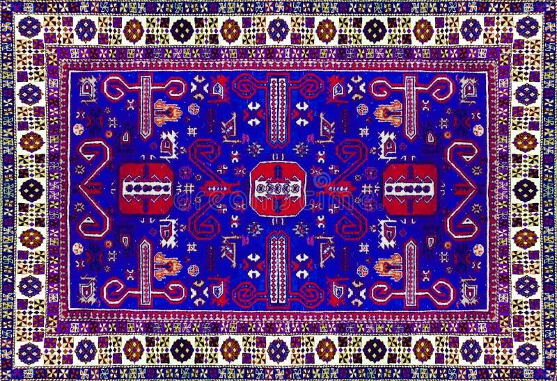 Perskiego dywanu tekstura, abstrakcjonistyczny ornament Round mandala wzór, Wschodnia Tradycyjna dywan powierzchnia Turkus zielon obrazy stock