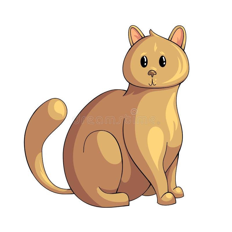 Perskiego kota ikona royalty ilustracja