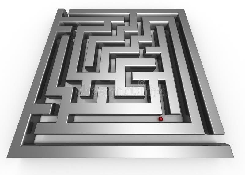 Perso nel labirinto illustrazione vettoriale