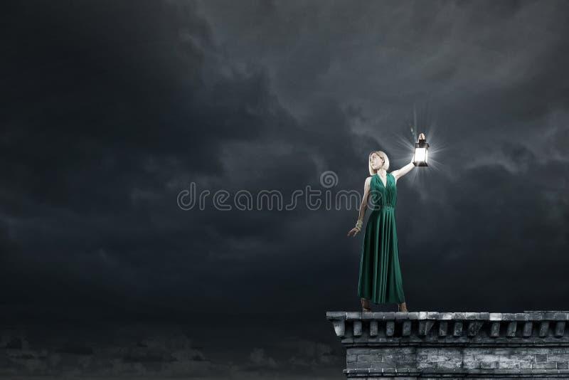 Perso nella notte fotografia stock libera da diritti