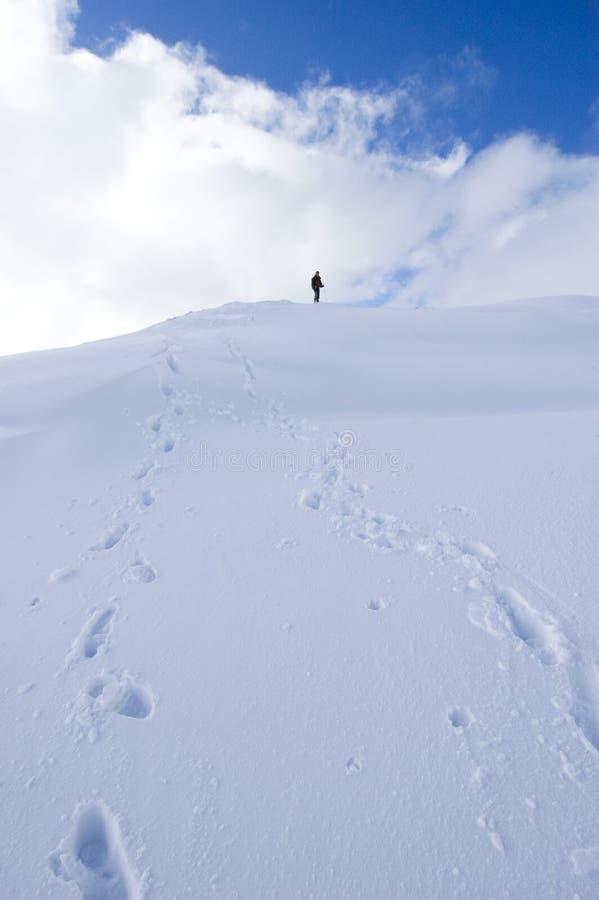 Perso nella regione selvaggia delle montagne fotografia stock libera da diritti