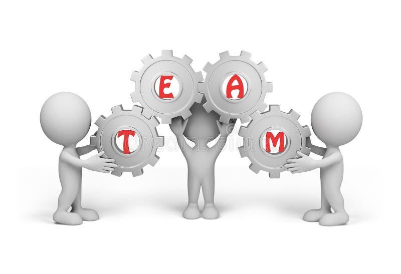 Person 3d â Team vektor abbildung