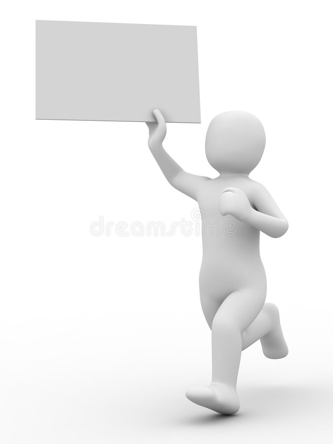 Person 3d und leeres Formular vektor abbildung