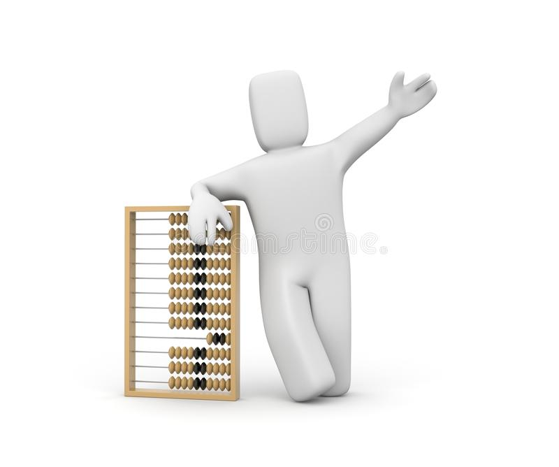 Download Person with abacus stock illustration. Image of mathematics - 14862503
