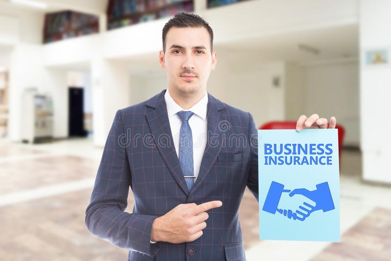Person advertising business insurance royalty free stock image