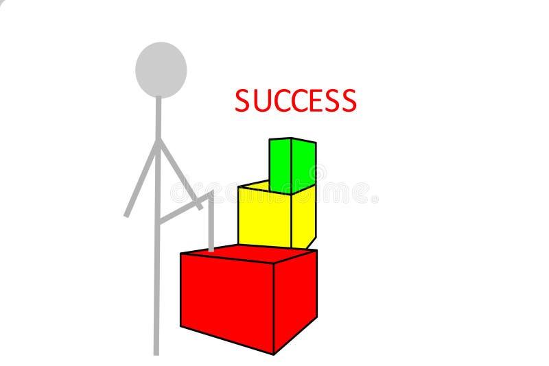 Person auf dem Weg zum Erfolg vektor abbildung