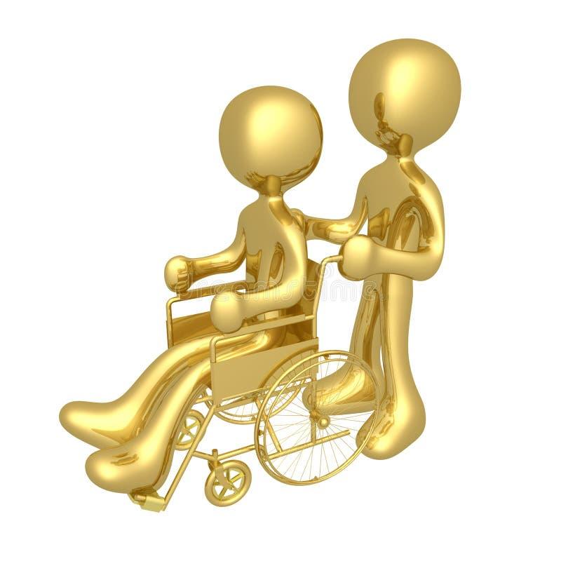 Person auf Rollstuhl stock abbildung