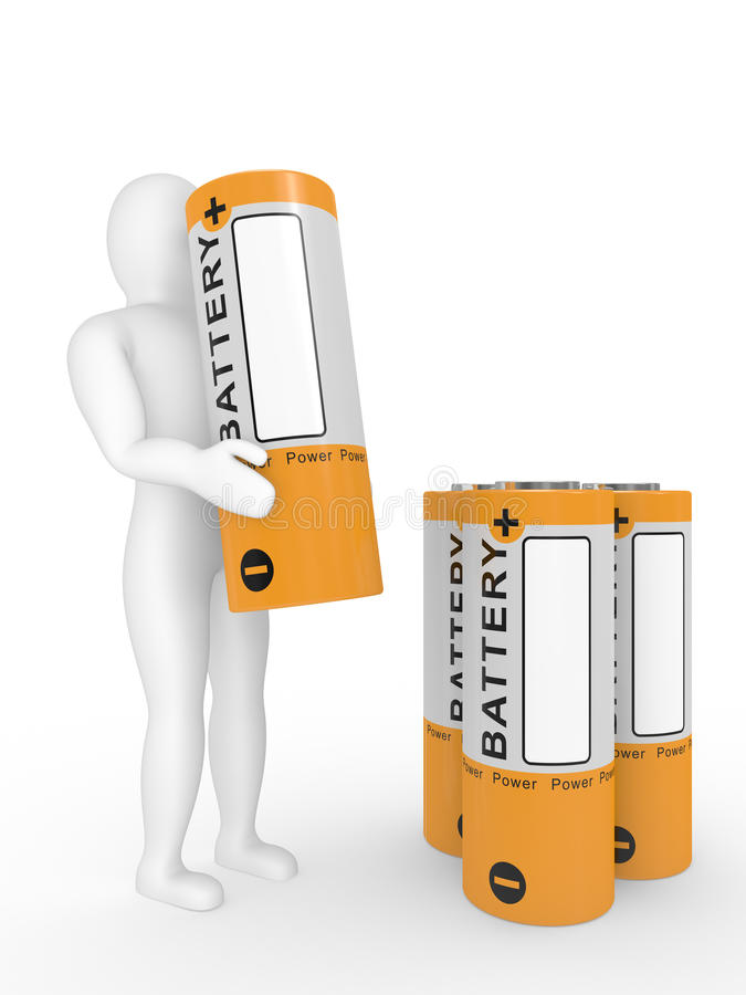 Download The Person With A Battery In Hands Stock Illustration - Image: 13098022